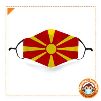 Mondkapje vlag Noord Macedonie