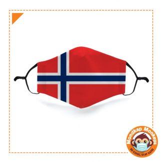 Mondkapje vlag Noorwegen