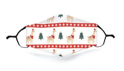 Mondkapje Kerst Lama
