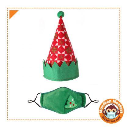 Christmas Green Mask & Hat