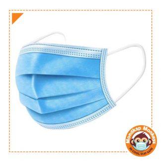 Blauw wegwerp mondkapjes